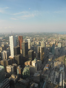 View from the CN Tower's revolving restaurant 360