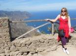 Lisa Hughes trekking Tenerife