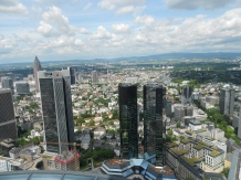 A view from the Main Tower Frankfurt