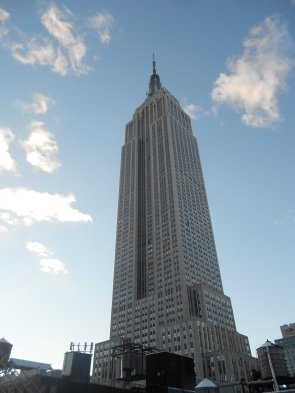 Empire State Building view from Hotel Metro New York City rooftop terrace