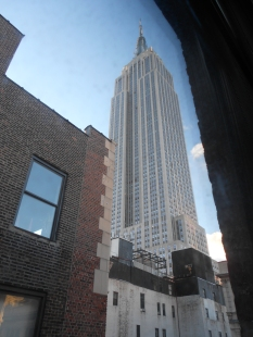 Empire State Building view from Hotel Metro New York City