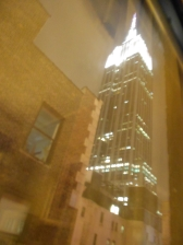 Empire State Building view from my room at Hotel Metro New York City