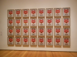 Andy Warhol's Campbell's soup cans at MOMA New York