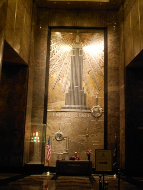 art deco ahoy in Empire State Building lobby