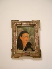 Frida Kahlo with monkey self portrait at MOMA