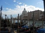 Gondolas and domes in Venice