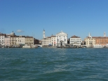 Leaving Venice from the water taxi