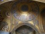 Ornate ceilings in St Mark's Basilica Venice