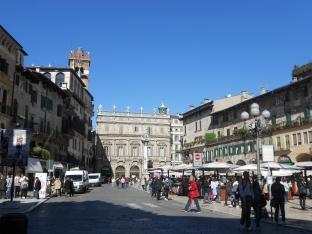 Piazza delle Erbe square in Verona