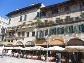 Restaurants along Piazza delle Erbe