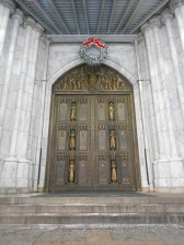 The doors of St Patrick's Cathedral New York