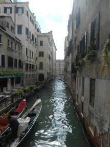 Typical canal in Venice