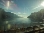 View of Lake Garda on the drive to Verona