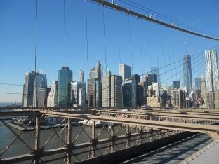 View of Lower Manhattan from the Brooklyn Bridge