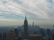 View of the Empire State Building and lower Manhattan from Top of the Rock
