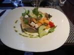Vegetarian dinner at Song Saveurs et Sens Michelin restaurant Nantes